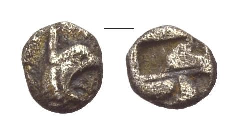 AR Tetartemorion 478-448 v. Chr. GRIECHISCHE MÜNZEN IONIEN: TEOS Schön-sehr schön