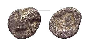 AR Tetartemorion 478-449 v. Chr. GRIECHISCHE MÜNZEN IONIEN: TEOS Schön-sehr schön