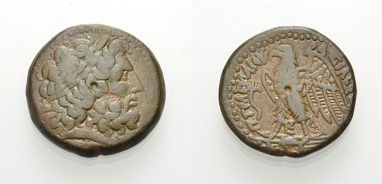 AE Bronze 221-204 v. Chr. ÄGYPTEN: KÖNIGREICH DER PTOLEMAIER PTOLEMAIOS IV. PHILOPATOR Gutes sehr schön