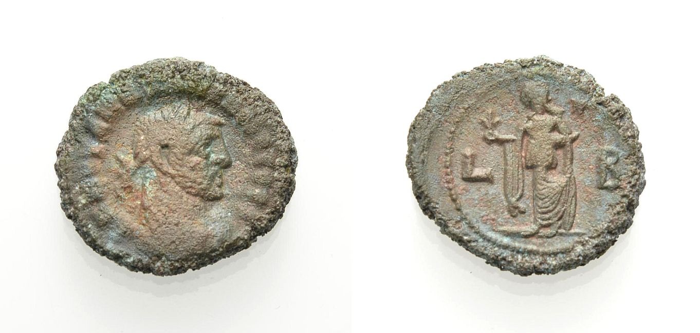 Billon- Tetradrachmon 286-287 ÄGYPTEN ALEXANDRIA: MAXIMIANUS HERCULIUS Knapp sehr schön-sehr schön