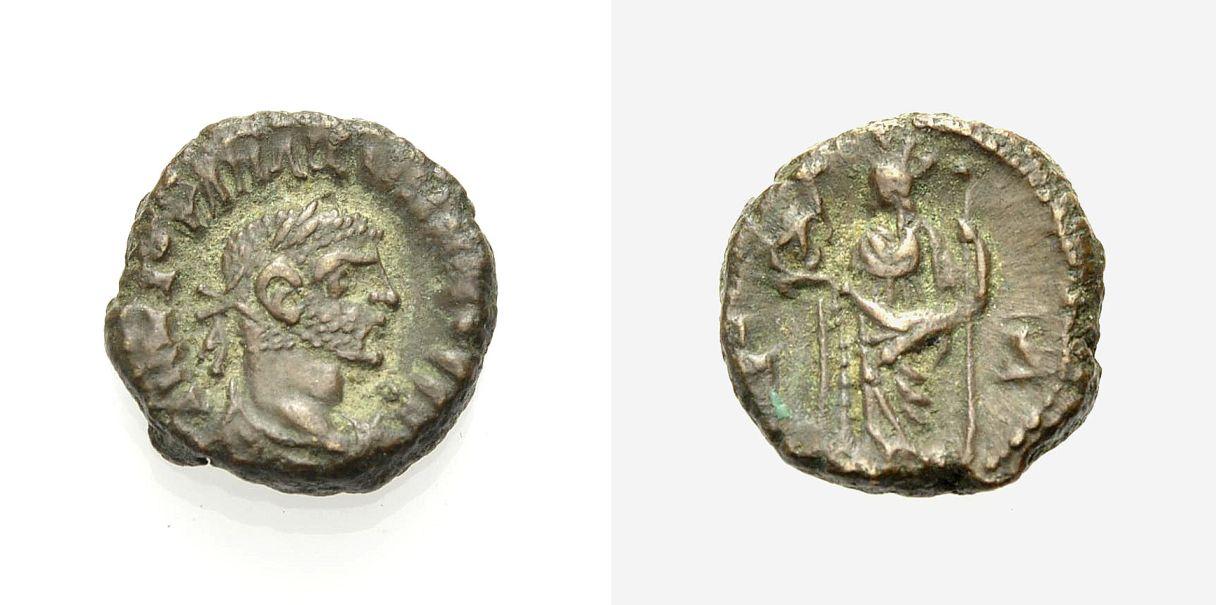 Billon-Tetrádrachmon 288-289 ÄGYPTEN ALEXANDRIA: MAXIMIANUS HERCULIUS Sehr schön