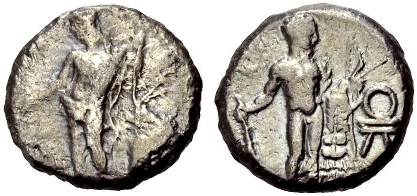 AR Stater um 400 v. Chr. GRIECHISCHE MÜNZEN KILIKIEN: ISSOS Av. Schön, Rv. Sehr schön