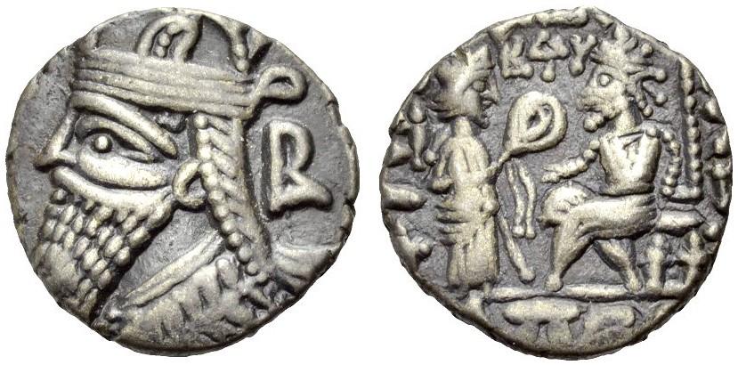 Tetradrachmon 147-191 PARTHER VOLOGASES IV. Fast vorzüglich