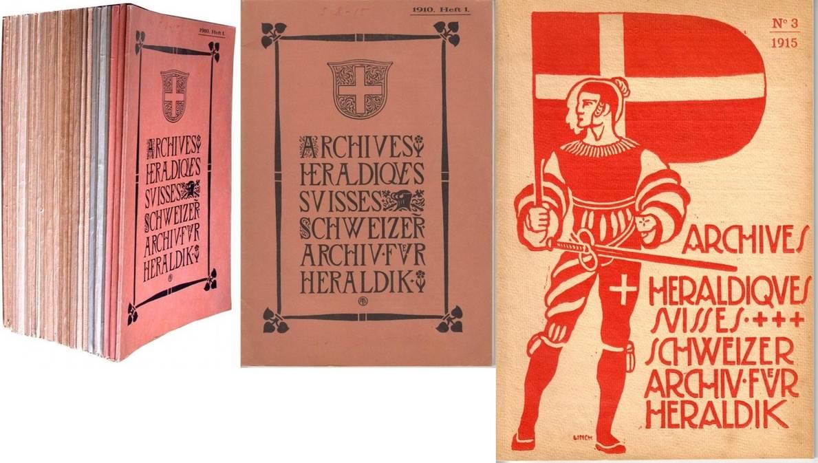 32 Hefte 1910-1940 SCHWEIZER ARCHIV FÜR HERALDIK Wappen und Siegel II