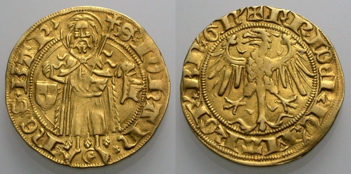 Goldgulden 1404-1440 BRANDENBURG-FRANKEN Münzstätte Wöhrd bei Nürnberg. Sehr schön
