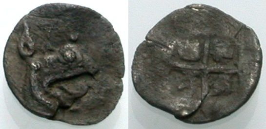 AR Tritemorion 478-449 v. Chr. GRIECHISCHE MÜNZEN KOLOPHON Sehr schön