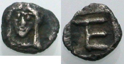 AR Tetartemorion 460-447 v. Chr. GRIECHISCHE MÜNZEN KOLOPHON Sehr schön