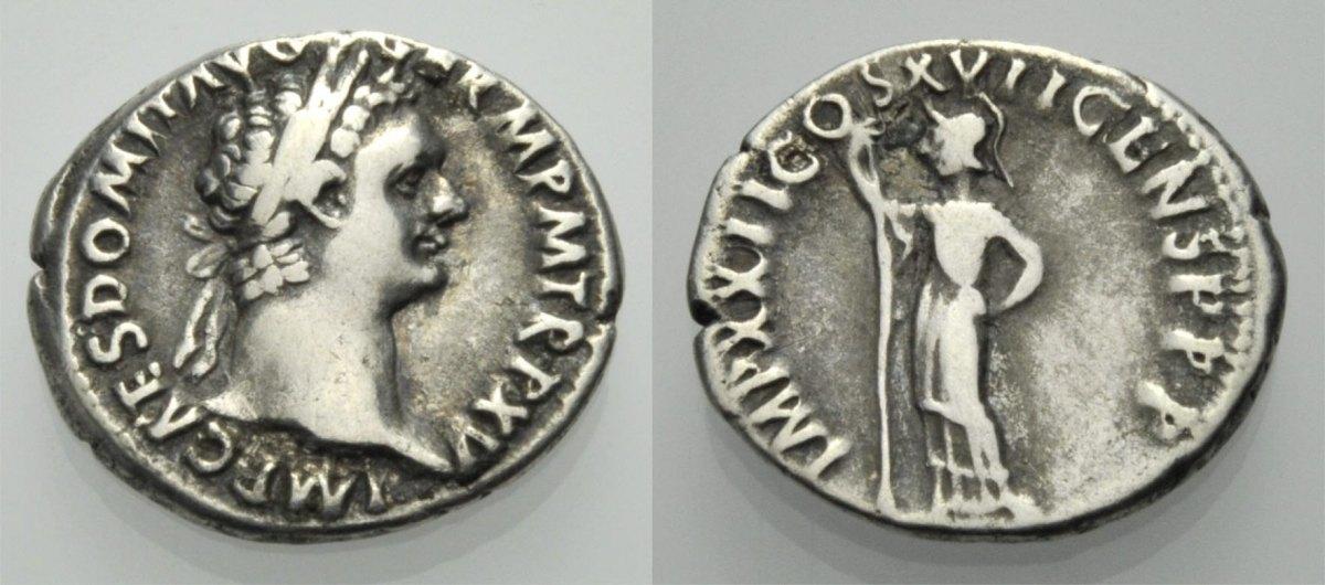 Denar 95-96. ROM, KAISERZEIT DOMITIANUS Schön-sehr schön