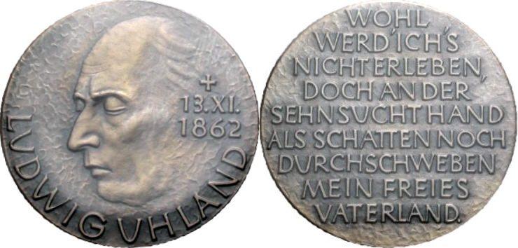 Silbermedaille 1962 UHLAND Prägefrisch