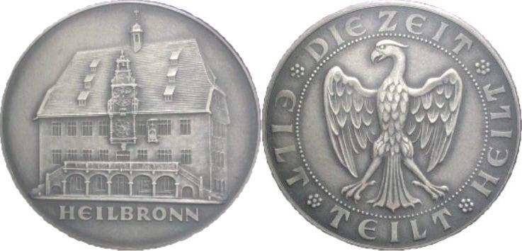 Silbermedaille o. J. HEILBRONN Prägefrisch