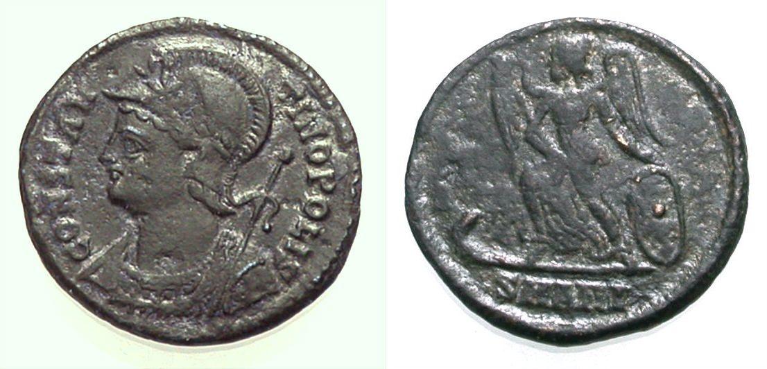 AE Nummus 330-333 ROM, KAISERZEIT CONSTANTINOPOLIS Sehr schön