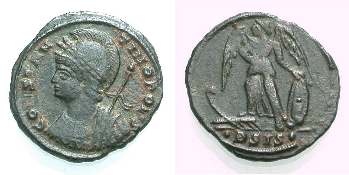 AE Kleinbronze 334-335 ROM, KAISERZEIT CONSTANTINOPOLIS Sehr schön