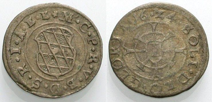 Kreuzer 1624 BAYERN Sehr schön