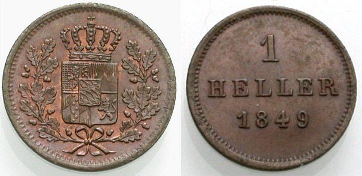 Heller 1849 BAYERN Vorzüglich