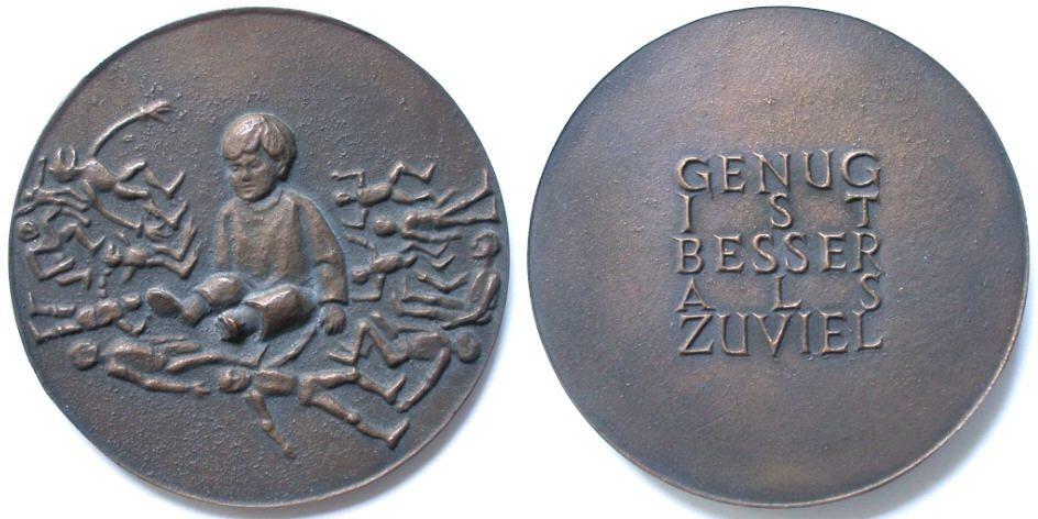 Bronzemedaille 1995 Genug ist besser als zuviel von R. Heinsdorff Vorzüglich