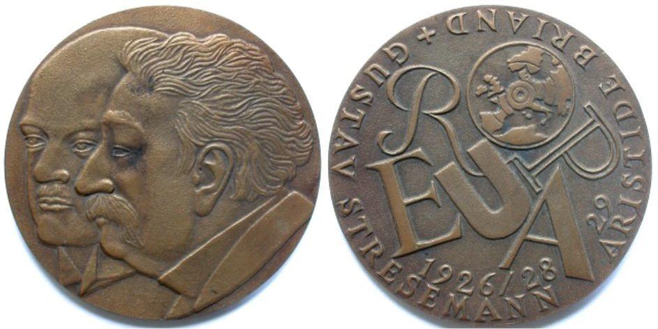 Bronzemedaille 1998 STRESEMANN und BRIAND von R. Heinsdorff Vorzüglich