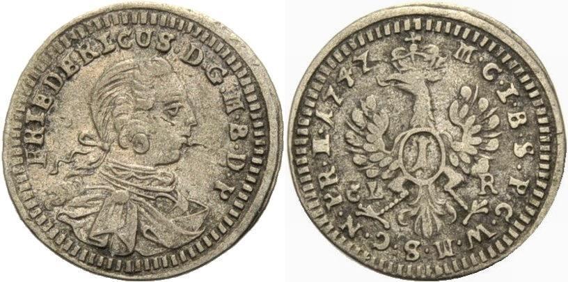 Kreuzer 1747 BRANDENBURG-BAYREUTH Sehr schön
