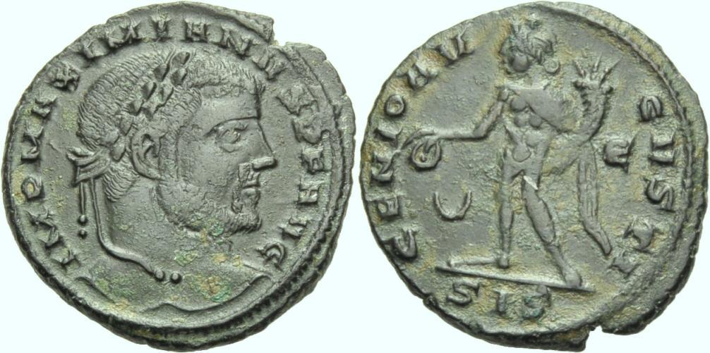 Nummus/Follis 309/10. ROM, KAISERZEIT GALERIUS MAXIMIANUS Sehr schön