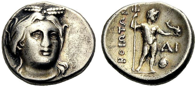 Drachme um 250 v. Chr. GRIECHISCHE MÜNZEN BÖOTISCHE LIGA Gutes sehr schön