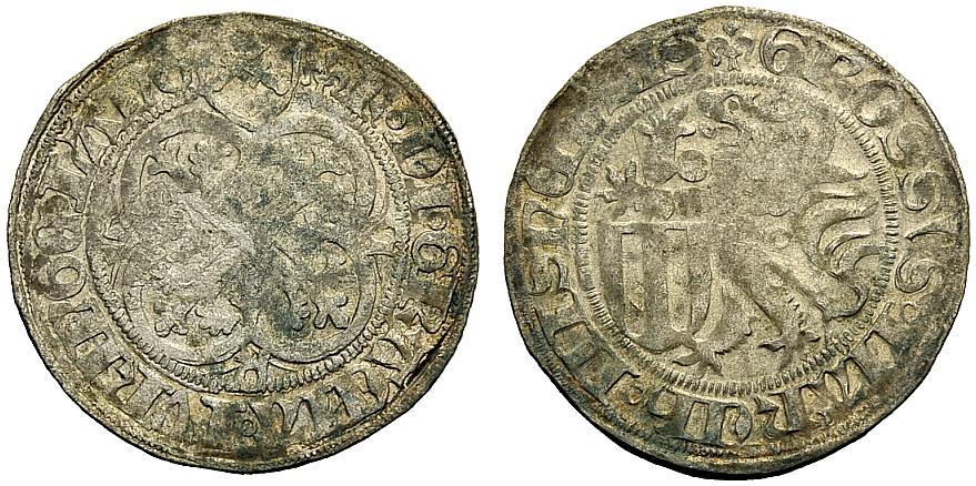 Schwertgroschen 1428-1464 SACHSEN SACHSEN-MEISSEN: FRIEDRICH II. sehr schön