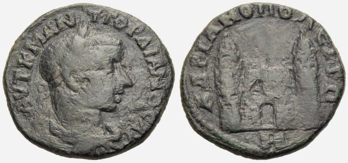 Bronze THRAKIEN, HADRIANOPOLIS GORDIAN III.