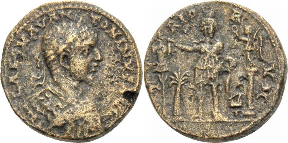 Bronze. 218-222 GRIECHISCHE MÜNZEN UNTER ROM. PHOINIKIEN; TYROS, UNTER ELAGABAL. Sehr Schön