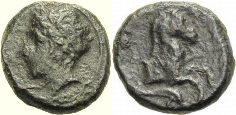Bronze. 4. Jh. GRIECHISCHE MÜNZEN SIZILIEN, PANORMOS. Sehr schön