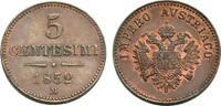 5 Centesimi 1852 M VENETIEN FRANZ JOSEPH I. Vorzüglich-Stempelglanz  80,00 EUR  zzgl. 3,00 EUR Versand