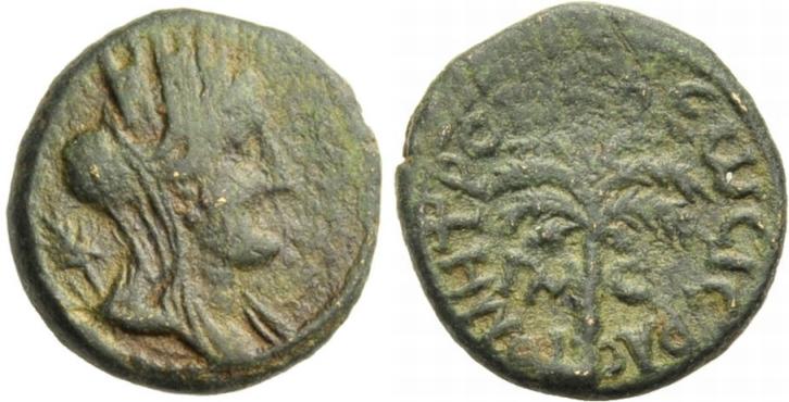 Bronze. 115-116 PHOINIKIEN: TYROS. UNTER TRAJAN. Sehr schön