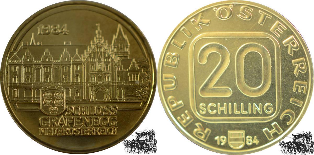 20 Schilling 1984 österreich 20 Schilling 1984 Schloss Grafenegg