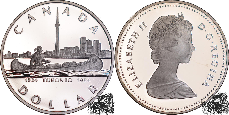 1 Dollar 1984 Toronto Silber