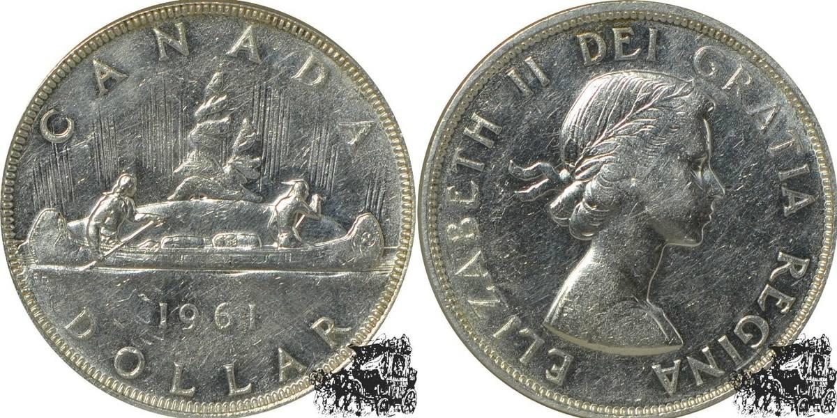 1 Dollar 1961 Kanu Silber