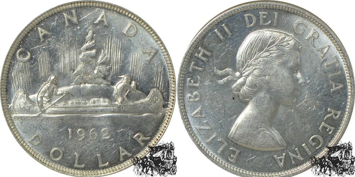 1 Dollar 1962 Kanu Silber