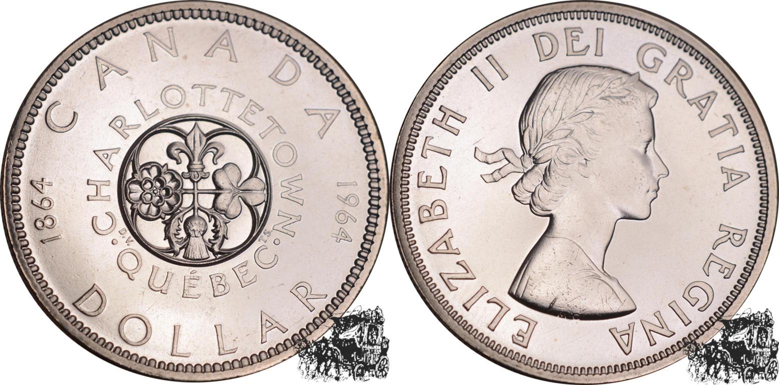 1 Dollar 1964 Charlottetown Silber