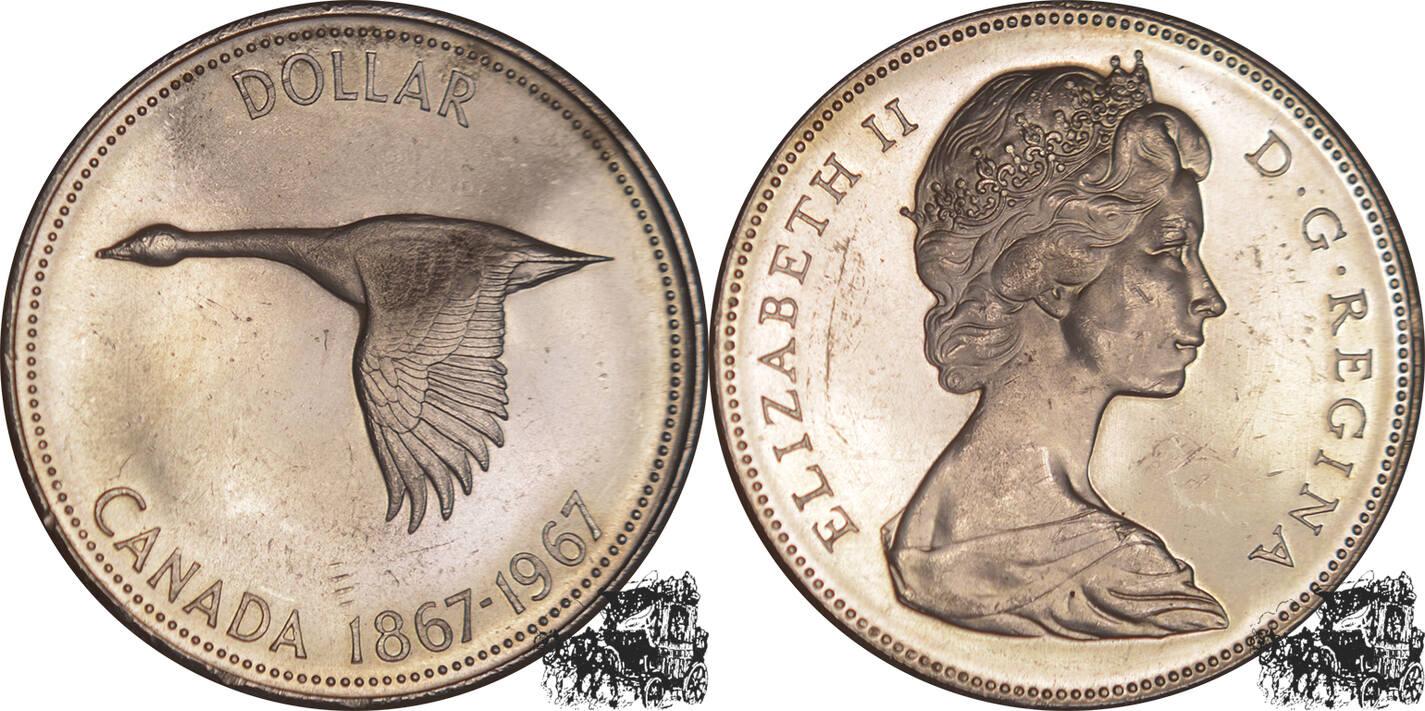 1 Dollar 1967 Wildgans Silber