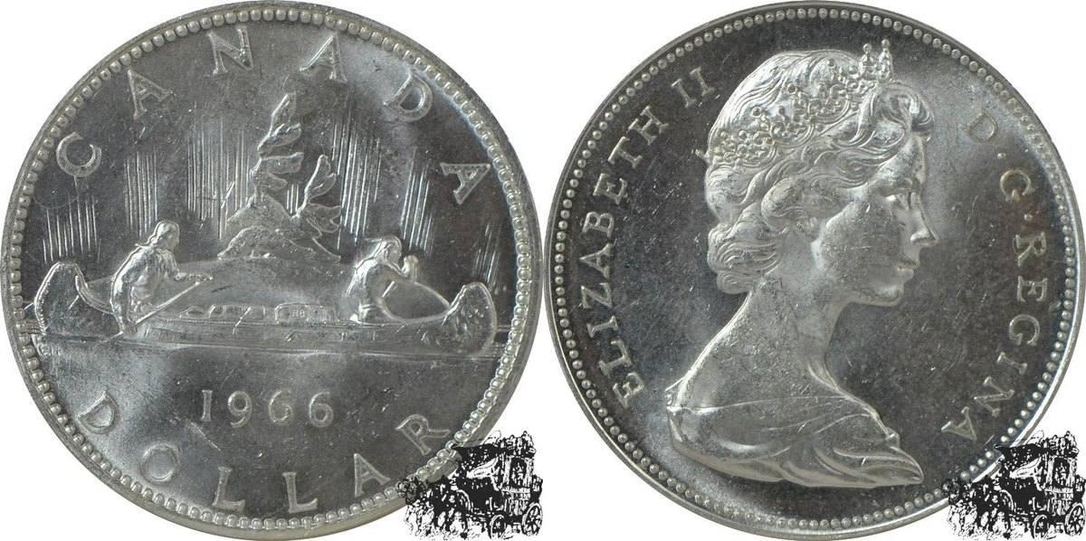 1 Dollar 1966 Kanu Silber