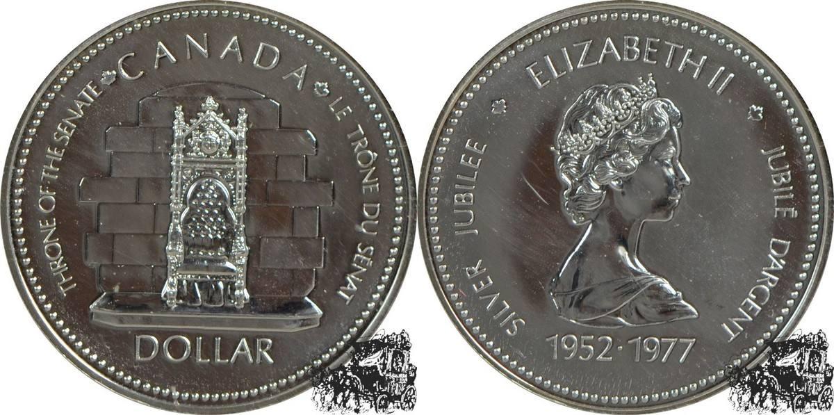 1976 1 Dollar 1977 Silber Jubiläum