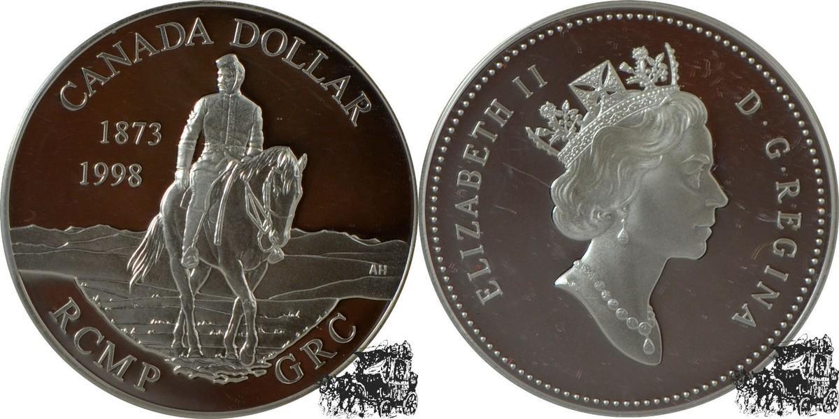 1 Dollar 1998 Berittene Polizei Silber