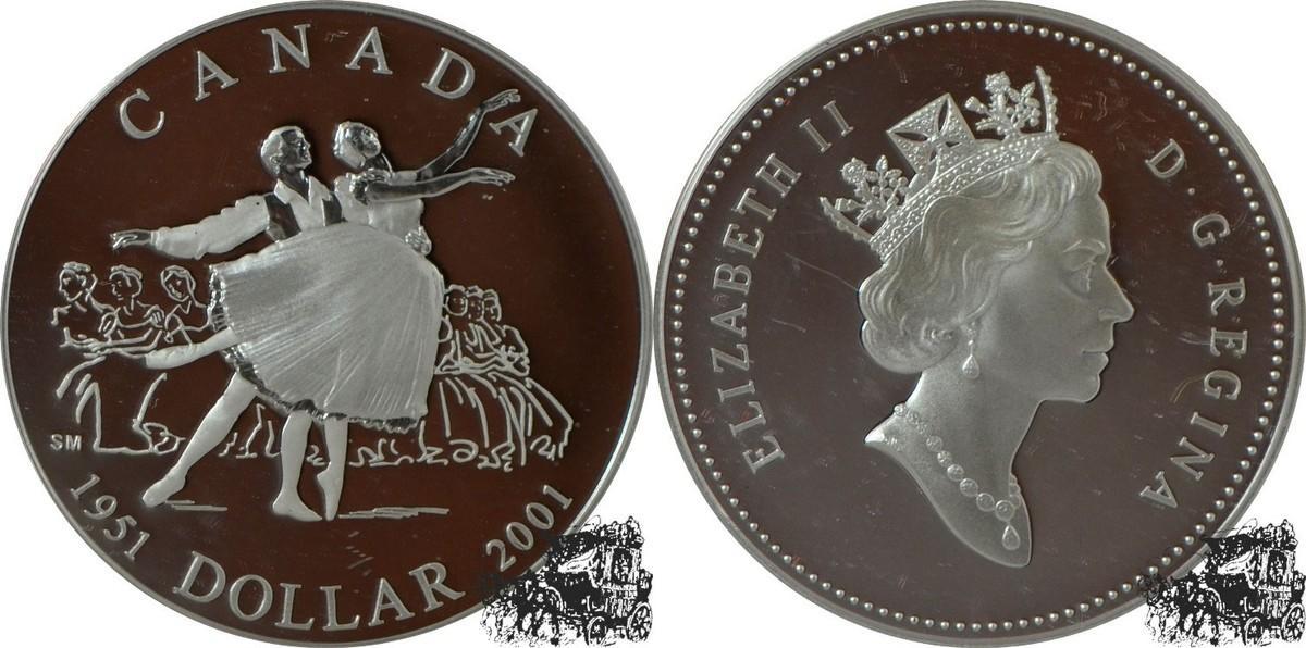 1 Dollar 2001 Nationalballet Silber