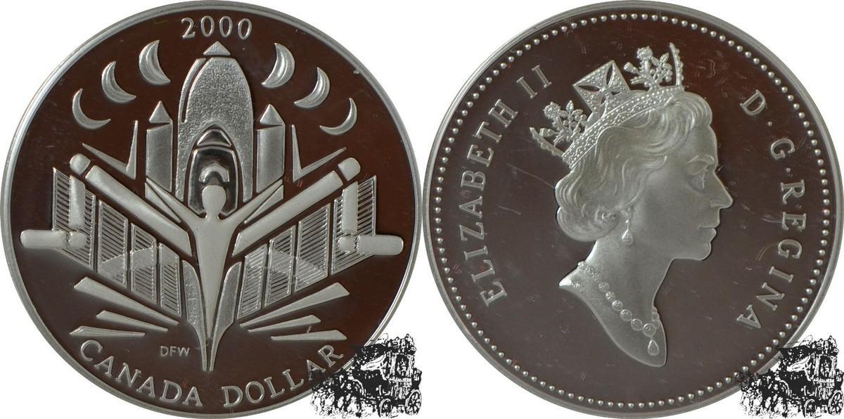 Kanada 1 Dollar 2000 Discovery Silber
