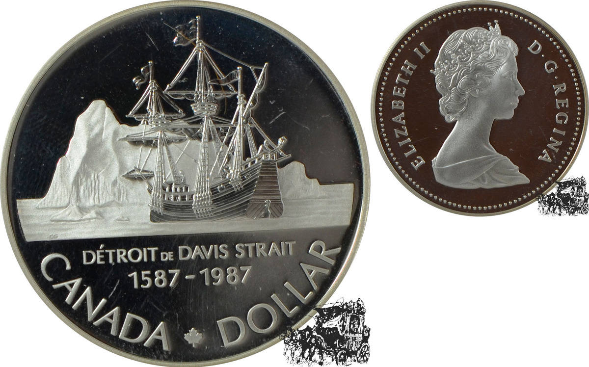 1 Dollar 1987 Polarschiff Silber