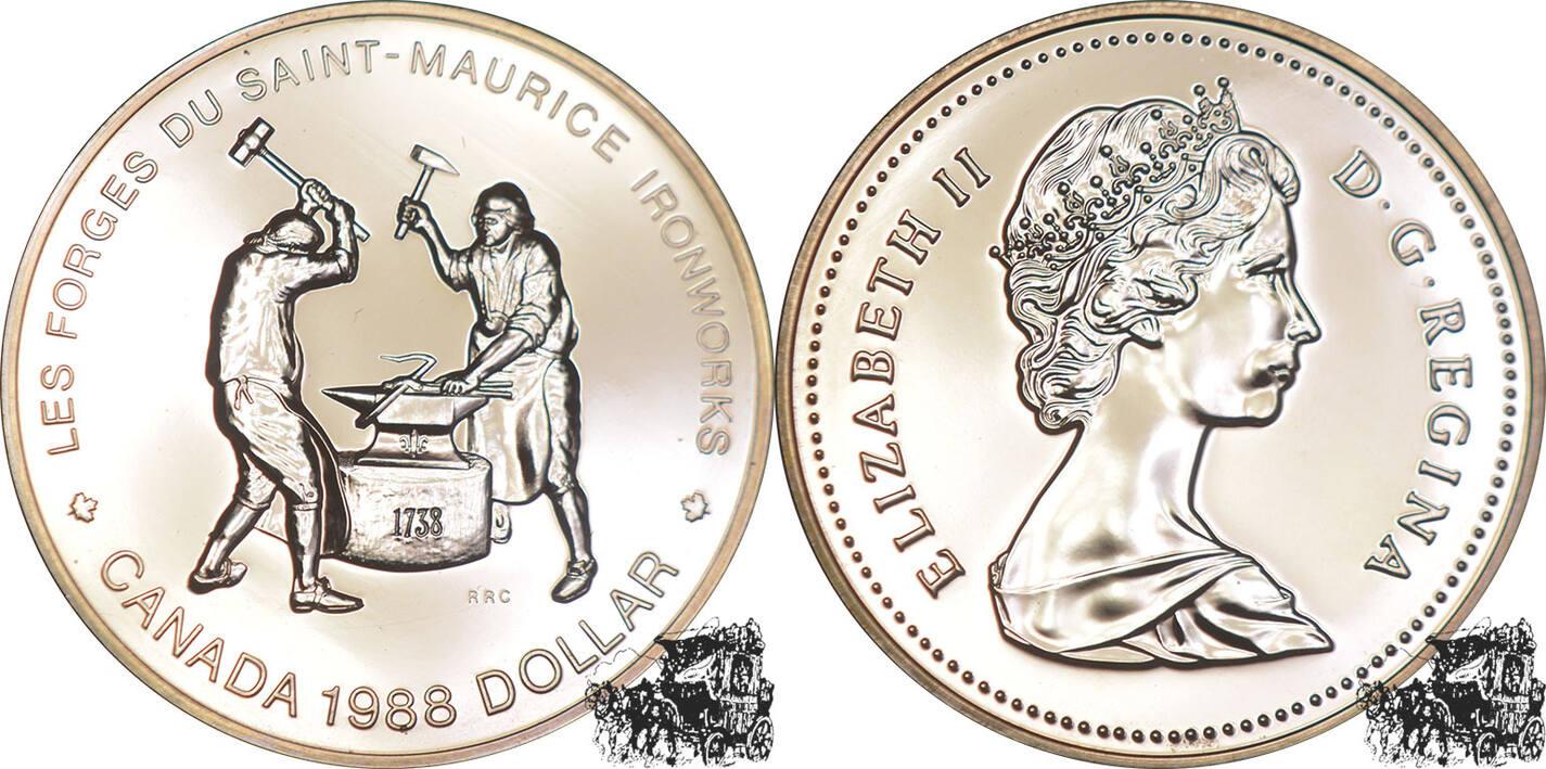 1 Dollar 1988 Eisenschmiede Silber