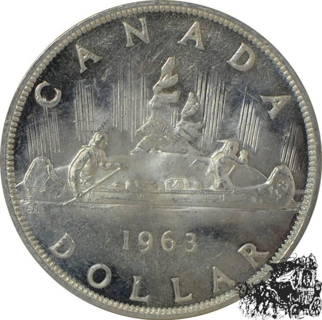 1 Dollar 1963 Kanu Silber