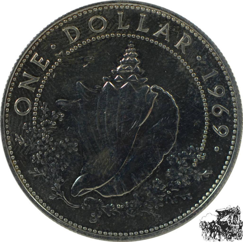 1 Dollars 1 Dollar 1969 Silber