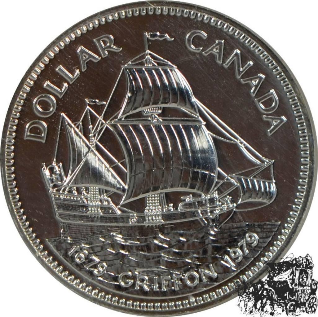 1 Dollar 1979 Griffon Silber