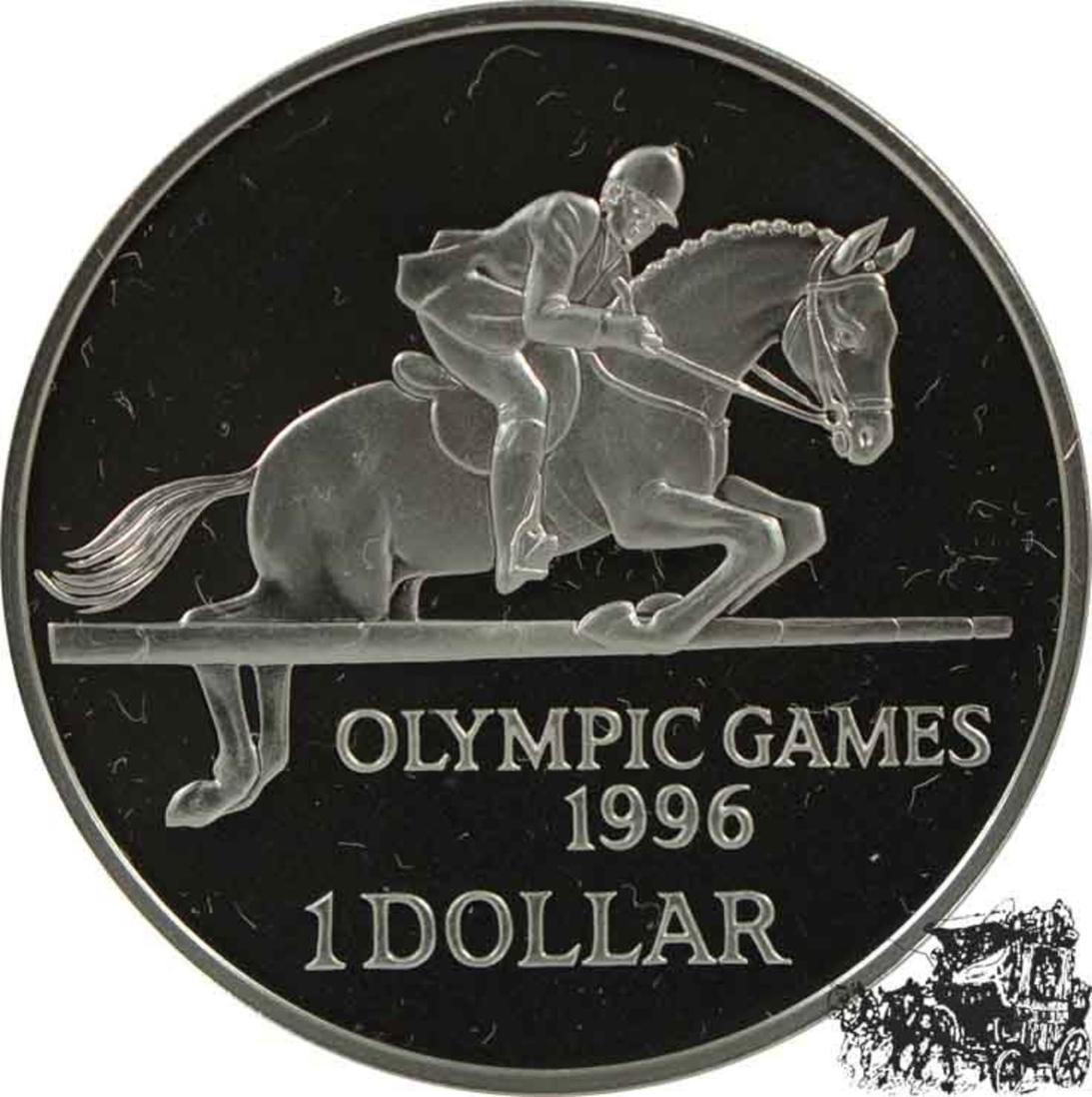 Unbekannt 1 Dollar 1996 Springreiten Silber