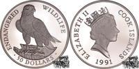 Cook-Inseln Neuseeländische Verwaltung 50 Dollar 50 Dollar 1991 - Falke