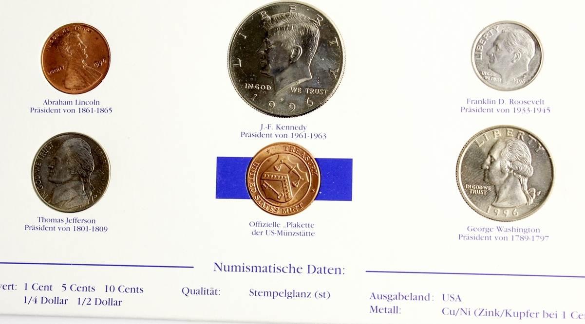 1996 Amerika Münzsatz Präsidentensatz Der Usa Die Berühmtesten