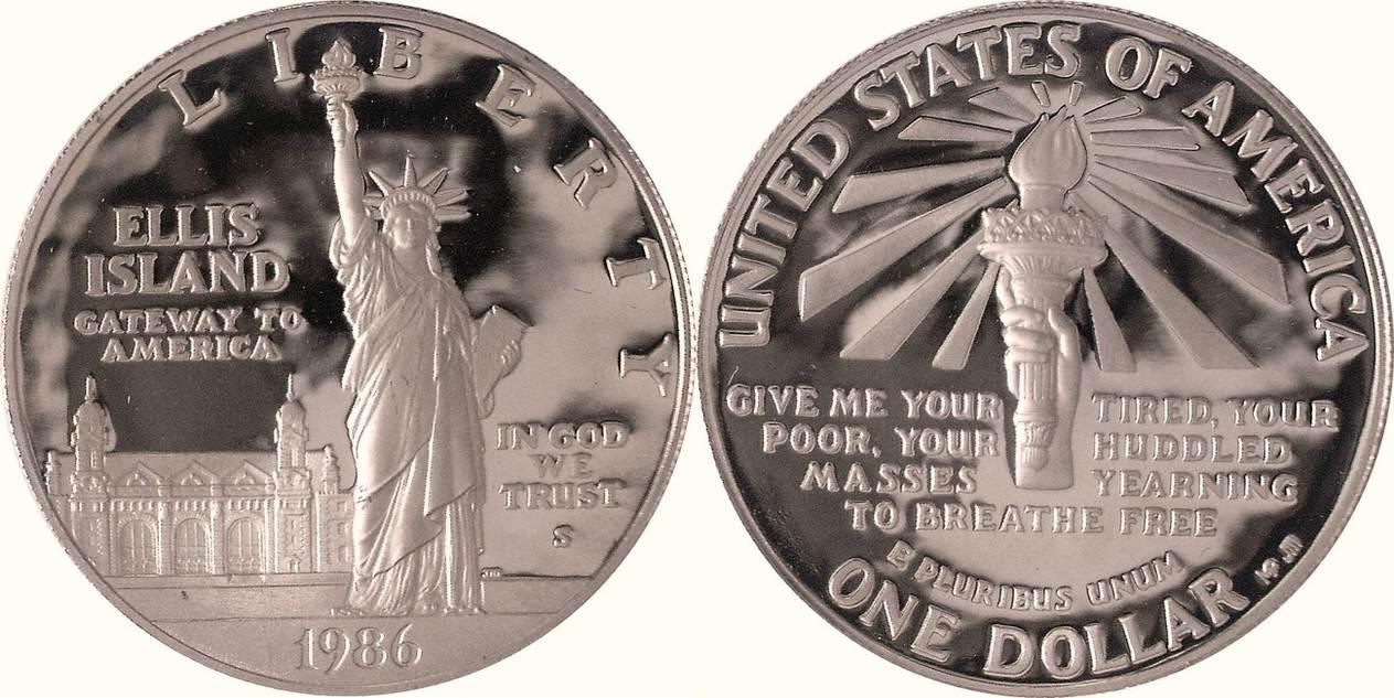 1 Dollar 1986 S Amerika Vereinigte Staaten Usa United States