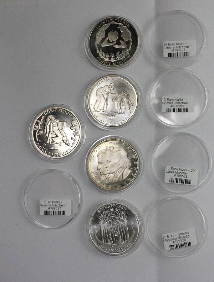 Deutschland 10 20 Euro Münzen Im Set Grimms Märchen Ma Shops